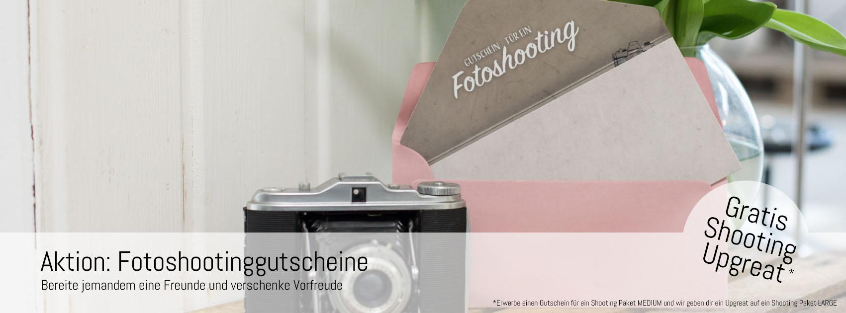 AKTION FOTOSHOOTINGGUTSCHEIN: VORFREUDE VERSCHENKEN
